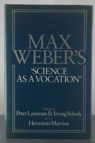 9780043012116: Max Weber's 'Science As a Vocation'