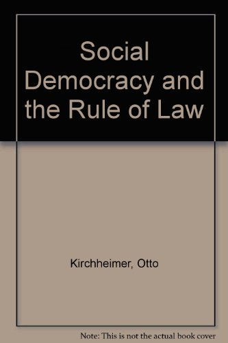 9780043013007: Social Democracy and the Rule of Law (English and German Edition)