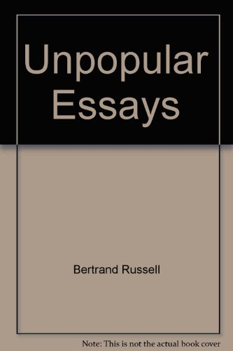 sceptical essays by bertrand russell An introduction to russell's sceptical essays the book called sceptical essays contains as many as seventeen essays while six of the essays have been discussed exhaustively in the present work, the other eleven have been considered briefly.