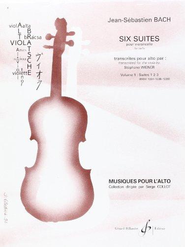 9780043040638: Six Suites pour Alto - Suites 1.2.3. - Volume 1 (ALTO SEUL)