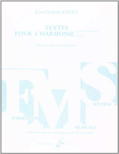 9780043048368: Textes pour l'Harmonie