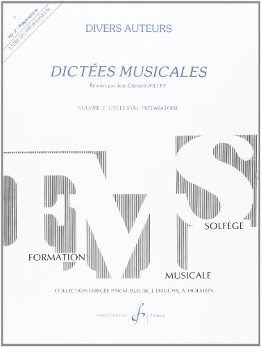 9780043050613: Dictées Musicales Volume 2 - Professeur