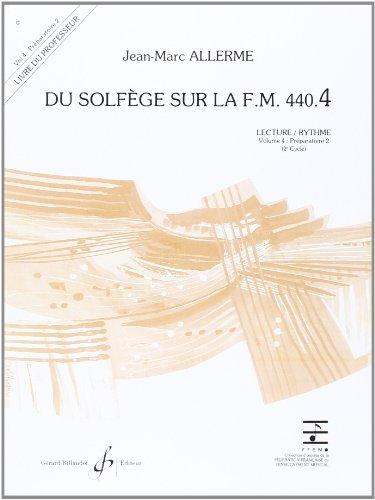9780043052839: Du Solfege Sur la F.M. 440.4 - Lecture/Rythme - Professeur