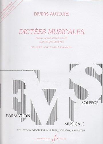 9780043054604: Dict�es Musicales Volume 3 - Eleve
