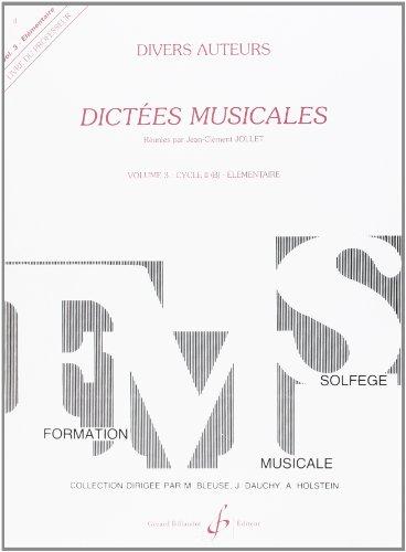 9780043054611: Dictées Musicales Volume 3 - Professeur