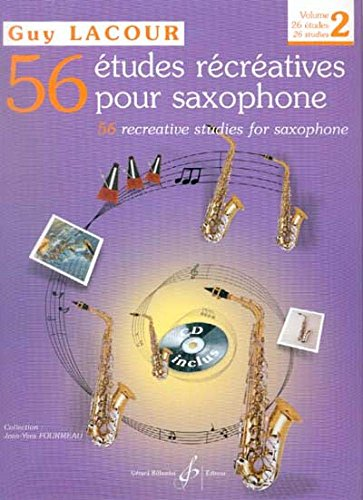 9780043071663: LACOUR - Estudios Recreativos (56) Vol.2: 26 Estudios Faciles para Saxofon (Inc.CD) (Fourmeau)