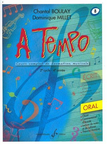 9780043083703: A Tempo - Partie Orale - Volume 8