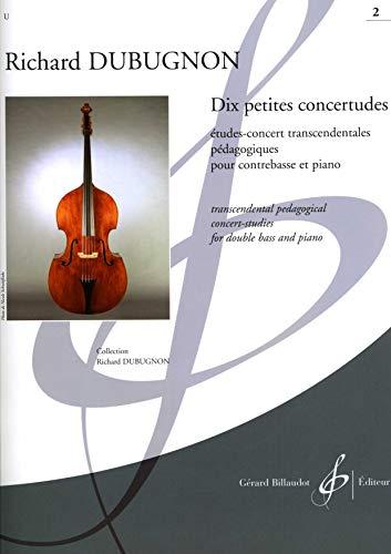 9780043093597: Dix petites Concertetudes Vol. 2 - Double Bass and Piano - Book