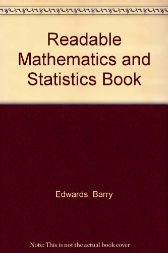 9780043100073: Readable Mathematics and Statistics Book