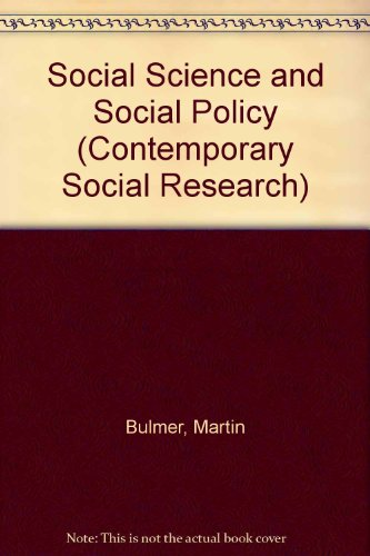 9780043120255: Social Science and Social Policy (Contemporary Social Research)