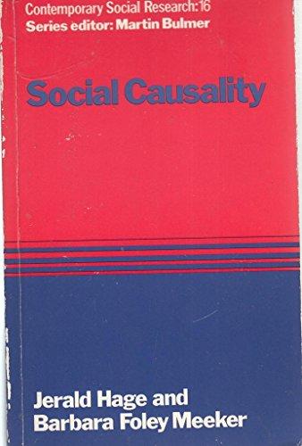 9780043120309: Social Casualty (Contemporary Social Research No 16)