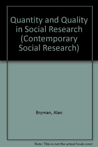 9780043120392: Quantity and Quality in Social Research (Contemporary Social Research)