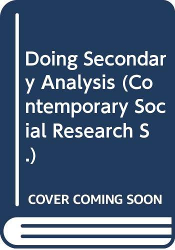 9780043120415: Doing Secondary Analysis (Contemporary Social Research)