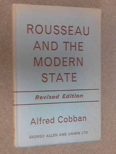 9780043200063: Rousseau and the Modern State