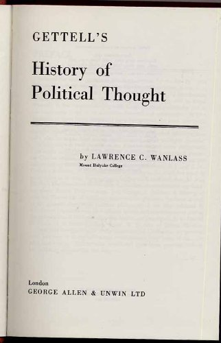 9780043200100: History of Political Thought