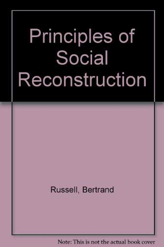 9780043200735: Principles of Social Reconstruction