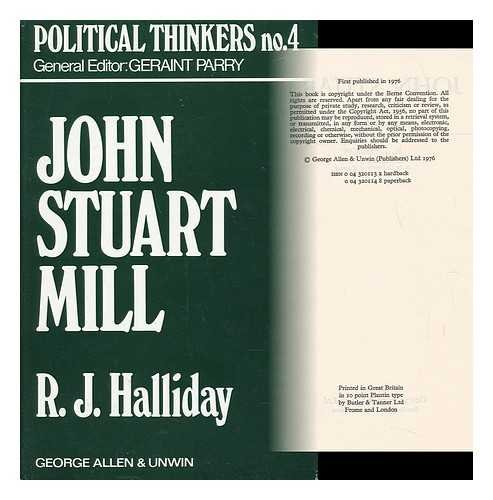 John Stuart Mill.: Halliday, R J