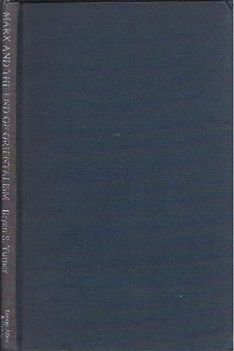9780043210208: Marx and the End of Orientalism (Controversies in sociology ; 7)