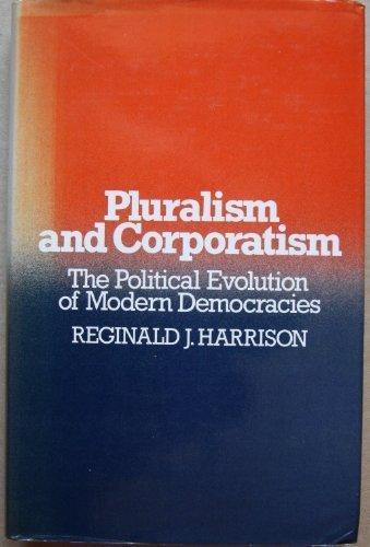 9780043210246: Pluralism and Corporatism