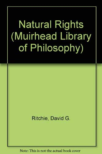 9780043230121: Natural Rights (Muirhead Library of Philosophy)