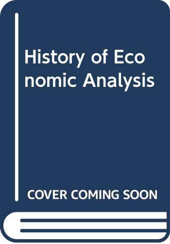 9780043300862: History of Economic Analysis Hb
