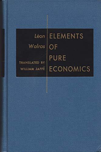 9780043300930: Elements of Pure Economics