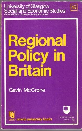 9780043301456: Regional Policy in Britain (Unwin University Books)