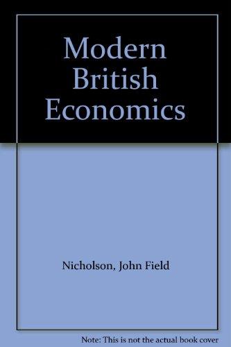9780043302231: Modern British Economics