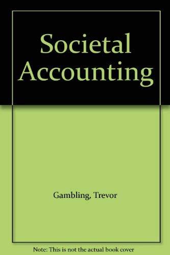9780043302422: Societal Accounting