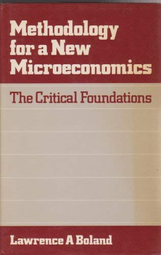 9780043303511: Methodology for a New Microeconomics: The Critical Foundations