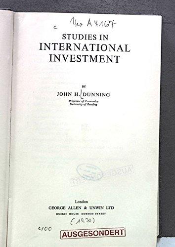 9780043320389: Studies in International Investment