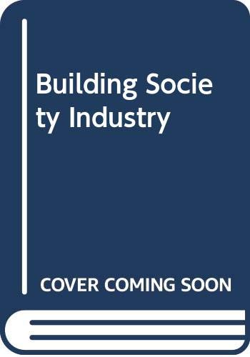 9780043320860: Building Society Industry