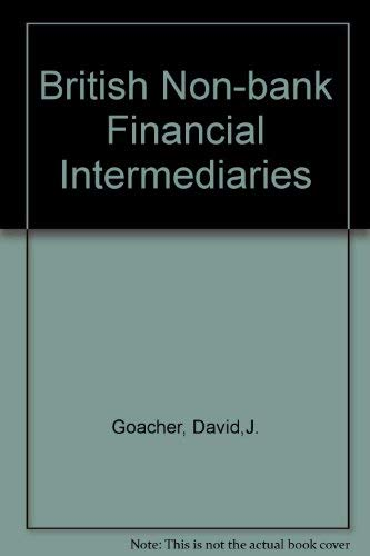 9780043321096: British Non-Bank Financial Intermediaries
