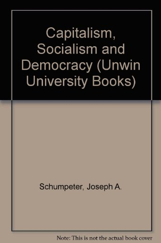 9780043350225: Capitalism, Socialism and Democracy (Unwin University Books)