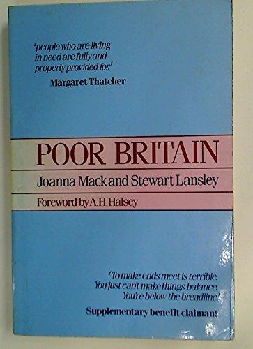 9780043360835: Poor Britain