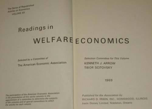 9780043380383: Readings in Welfare Economics (American Economic Association)
