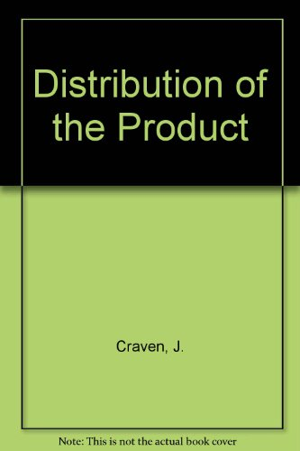 9780043390153: Distribution of the Product (Studies in economics ; 16)