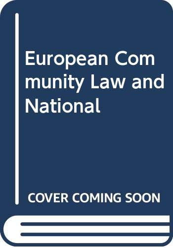9780043410189: European Community Law and National