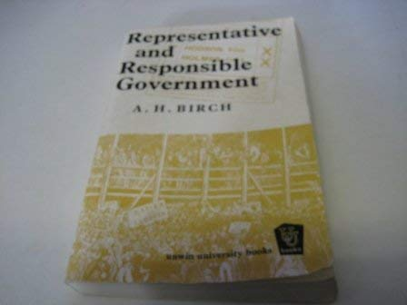 9780043500026: Representative and Responsible Government