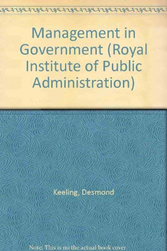 9780043500347: Management in Government (Royal Institute of Public Administration)