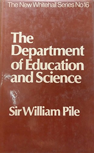9780043510544: Department of Education and Science (The new Whitehall series)