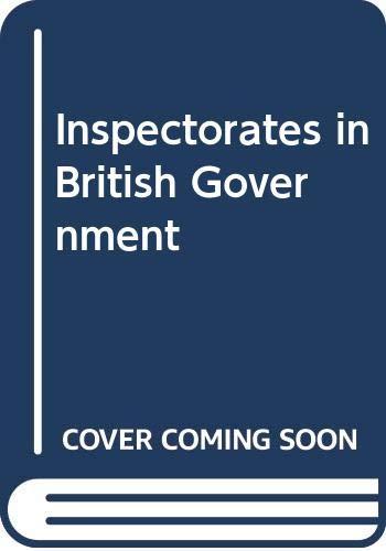 9780043510568: Inspectorates in British Government