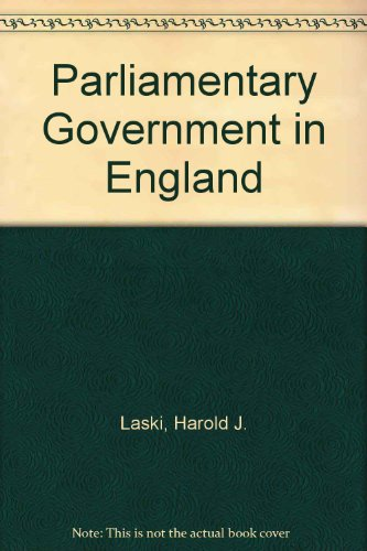 9780043540121: Parliamentary Government in England