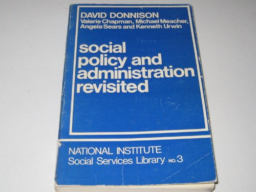 9780043600382: Social Policy and Administration Revisited (National Institute Social Services Library)