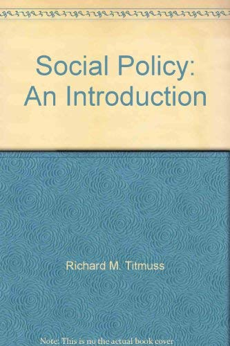 9780043610176: Social Policy: An Introduction