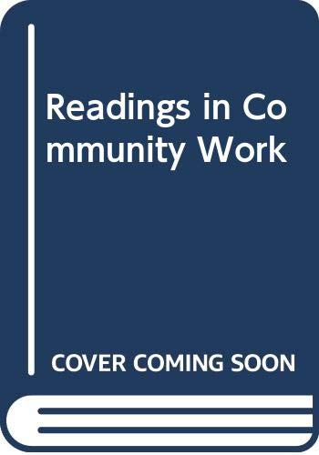 9780043610459: Readings in Community Work