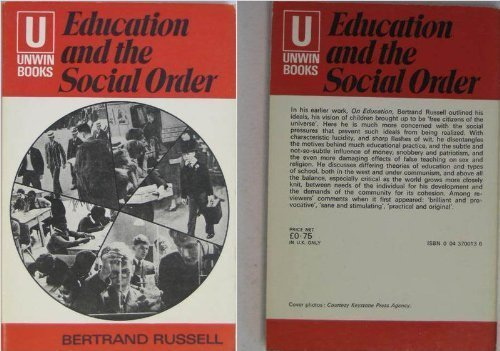 9780043700136: Education and the Social Order