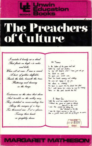9780043700686: Preachers of Culture: Study of English and Its Teachers (Education Books)