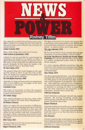 9780043720431: News and Power