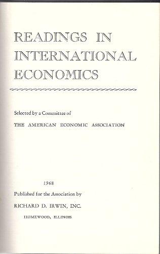9780043820087: Readings in International Economics (American Economic Association)